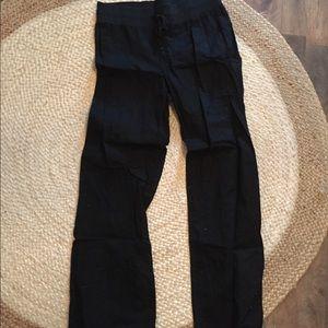 Banana Republic black linen pants
